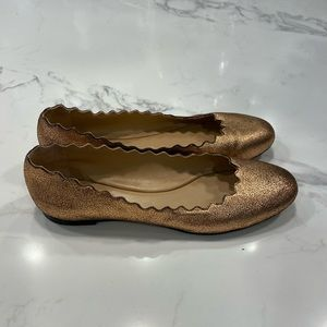 Chloe Rose Gold Lauren Leather Flats
